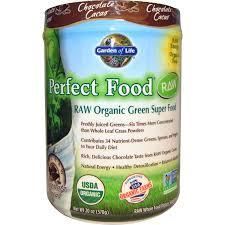 garden of life raw organic perfect food green super food chocolate cacao 1 25 lbs 570 g