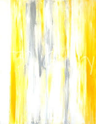 yellow and gray art grey and yellow abstract art painting stretched canvas print canvas art by