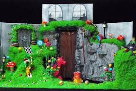 charlie and the chocolate factory world willy wonka set design  cake dahls charlie and the chocolate factory karen leonard