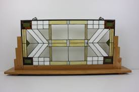 Stained Glass Display Stands Extraordinary Stained Glass Window Panel With Wooden Display Stand In American Art