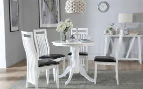kingston round white dining table with 4 java chairs