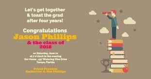 Graduation Announcements College Template Create Custom Graduation Invitations For Free Adobe Spark