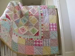 modern handmade patchwork quilt baby quilt girls patchwork quilt ... & modern handmade patchwork quilt baby quilt girls patchwork quilt play mat  wall hanging Adamdwight.com