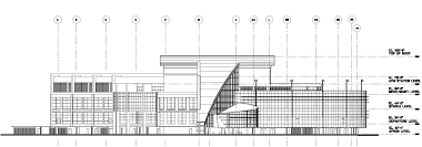 architecture building drawing. Delighful Drawing Building Section Of The New Airport Terminal In Architecture Drawing