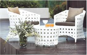 Outdoor White Wicker Furniture Outdoor Furniture Balcony Rattan