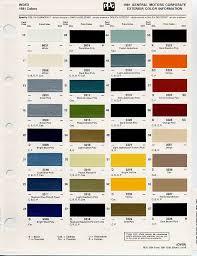 Gm Auto Color Chips Color Chips Paint Codes Gm Car