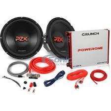 crunch 2 pzx12d4 p1 1050 2 rb 2 pzx12d4 ls p110502 rb list crunch 1000 watt max dual 12 subwoofer bass bundle w amp and wiring kit