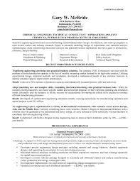 Sample Chemical Engineering Resume Great Engineering Resume