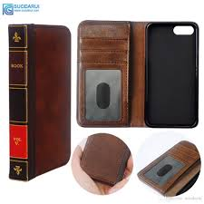 flip leather cell phone case for iphone 7 8 cover wallet retro vintage book business pouch make your own cell phone case cell phone pouch from