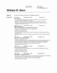 Resume Format For Security Supervisor New Resume Setup Simple