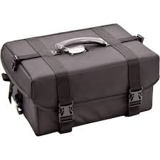 black train case rolling trolley professional makeup artist soft sided storage