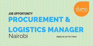 job vacancy procurement logistics manager duma works job vacancy procurement logistics manager apply now on duma works to land your