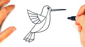 simple hummingbird drawing. Simple Drawing How To Draw A Hummingbird  Easy Draw Tutorial In Simple Drawing B