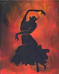 flamenco painting flamenco dancer by olga kaczmar