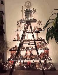 Wooden Ladder Display Stand 100 Step Vintage Ladder Primitive Display Stand Choose a Vintage 45