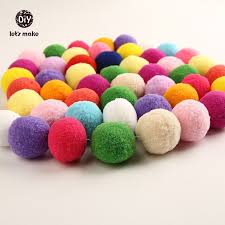How To Make Fluffy Decoration Balls Amazing Let's Make 32pclot Plush Ball Felt Soft Balls Fluffy Balls Pattern