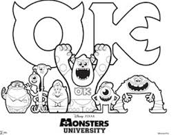 Small Picture Free Monsters University Activity Sheets Not Quite Susie