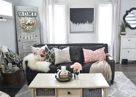 a black blush pink living room diy