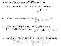 Constant Multiple Rule Derivative Math Review Techniques Of