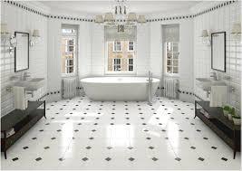 white bathroom floor:  retro black white bathroom floor tile ideas and pictures black white tile bathroom floor fresh bathroom