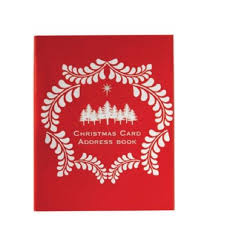 How To Address A Christmas Card Cc54pic Christmas Card Address Book Charfleet Book Bindery