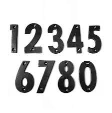 antique black door numbers