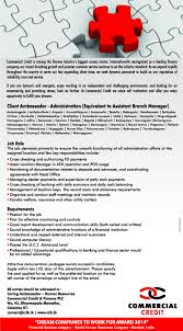 Client Ambassador Administration ( Equivalent To Assistant Branch ...