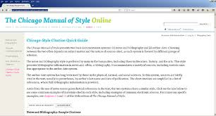 Chicago Manual Style In Text Citation College Paper Sample July