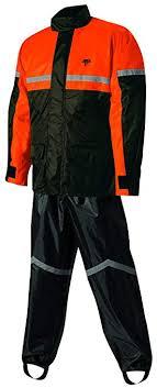 Nelson Rigg Stormrider Rain Suit Black Orange X Large
