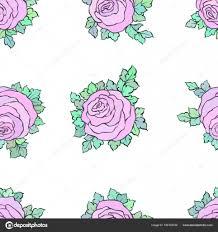 Floral Decoratieve Kleurrijk Licht Behang Met Schattige Rozen