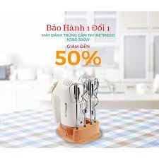 Máy đánh trứng cầm tay, Máy Đánh Trứng Netmego N38D-534 300W. Máy Đánh Trứng  Nhào Bột Cầm Tay Đa năng Netmego N38D-534 - Máy làm bánh