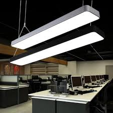 lamp office. LED Strip Office Chandeliers Conference Room Rectangular Hanging Lamp Simple Fashion Ceiling Mall Lighting F