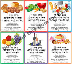 Al Hamichya Chart Brachot Poster 2 A Downloadable Item