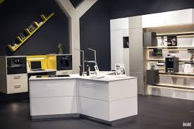 Gray And Yellow Kitchen Decor Innovative Yellow Cabinets And Counter Gray Backdrop Floating Open
