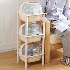 blue to the nordic home fruit rack kitchen rack floor dust proof fruit and vegetable storage rack multi layer storage with lid dish three layer apricot