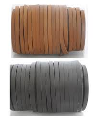 real flat leather cord 5mm x 3mm string lace for jewellery party