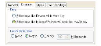 3.2.2 Configuring the editor emulation