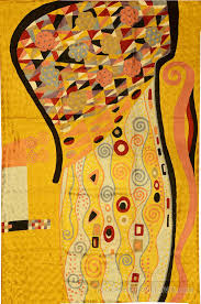 klimt rugs art nouveau yellow gold abstract wall