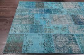 blue overdyed turkish rugs