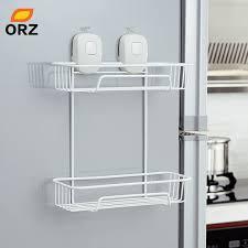 towel storage rack. ORZ Suction Cup Kitchen Storage Holder Rack Organization Shelf Bathroom Towel Baskets W