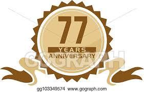 Anniversary Ribbon Vector Art 77 Years Ribbon Anniversary Eps Clipart Gg103349574