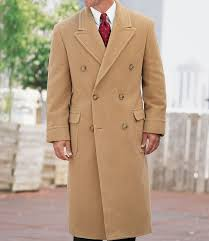 a bank double ted camel hair topcoat