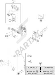 Instruments lock system ktm 200 exc 2008 eu