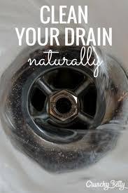 drain with baking soda and vinegar