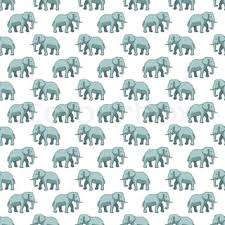 Elephant Pattern Beauteous Elephant With Floral Pattern Coming From His Trunk Stock Vector