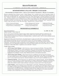 Sample Resume Of Business Analyst Sample Resume For Analyst