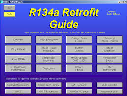 R134 Conversion Chart R134a A C Refrigerant Retrofit Guide Software