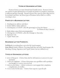 different types of letter formats best template collection mla business letter format template