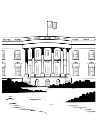 Small Picture White House Coloring Page fablesfromthefriendscom
