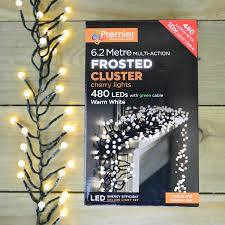 480 Christmas Tree Lights Details About 480 Led 6 2m Premier Frosted Cluster Christmas Tree Lights Warm White